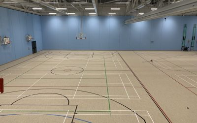 Flooded Sports Floor Replacement Carried Out In Record Time!