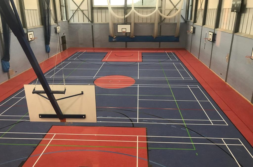 Flood Damage Sports Floor Replaced